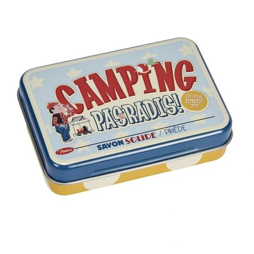 """Handtvål med plåtburk """"Camping"""""""