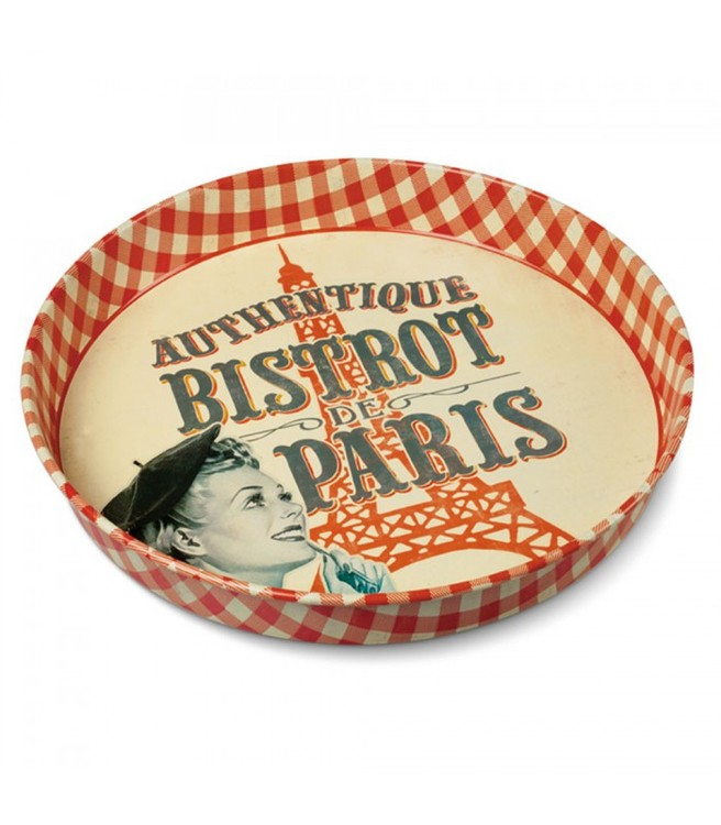 Paris på en bricka i plåt, perfekt att servera på.