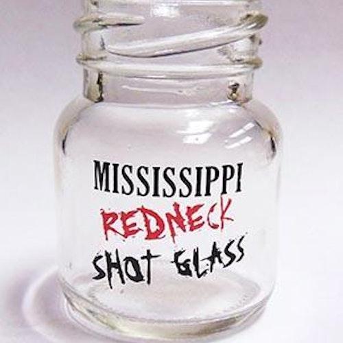 """Shotglas Mason Jar Redneck """"Mississippi"""""""