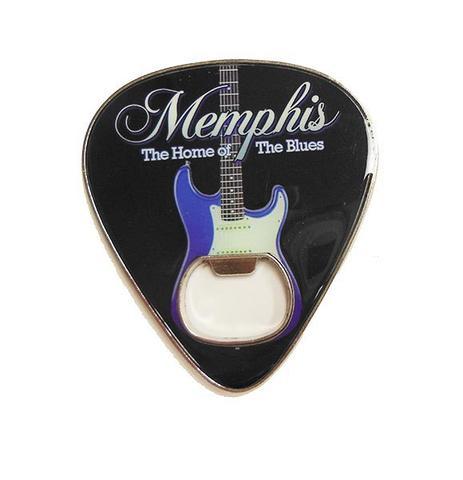 Plektrum som fungerar som en öppnare, Memphis.