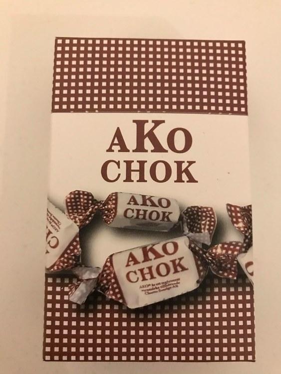 Ako-kola choklad i ask.
