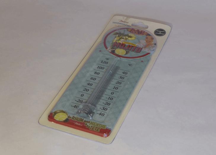 Termometer Mojito i plåt för inomhus eller utomhus.