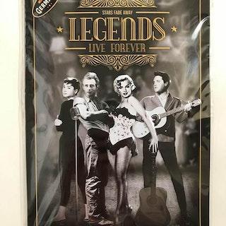 "Plåtskylt 20x30 ""Legends"""