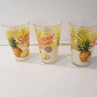 """Dricksglas 3-pack """"Ananas"""""""