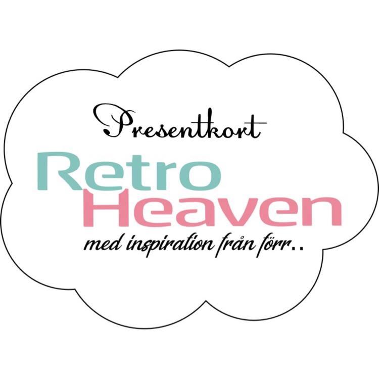 Presentkort på RetroHeaven, färgglad inredning med inspiration från förr.