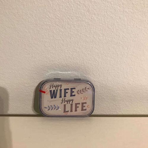 """Mintpastiller """"Happy Wife Happy Life"""""""