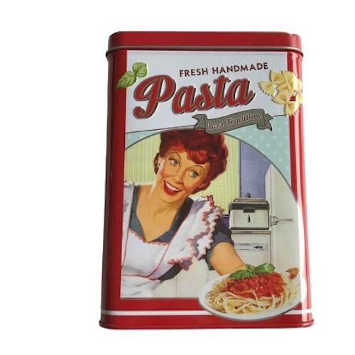 """Plåtburk för Pasta """"Fresh Handmade"""""""