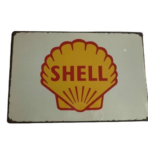 "Plåtskylt 20x30cm ""Shell"""