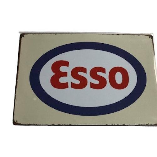 """Plåtskylt 20x30cm """"Esso"""""""
