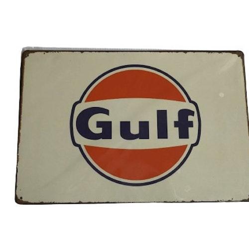 "Plåtskylt 20x30cm ""Gulf"""