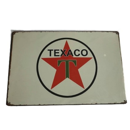 "Plåtskylt 20x30cm ""Texaco"""