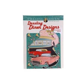 """Målarbok """"Diner Designs"""""""