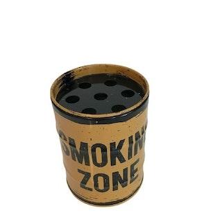 "Askkopp oljefat ""Smoking Zone, Gul"""