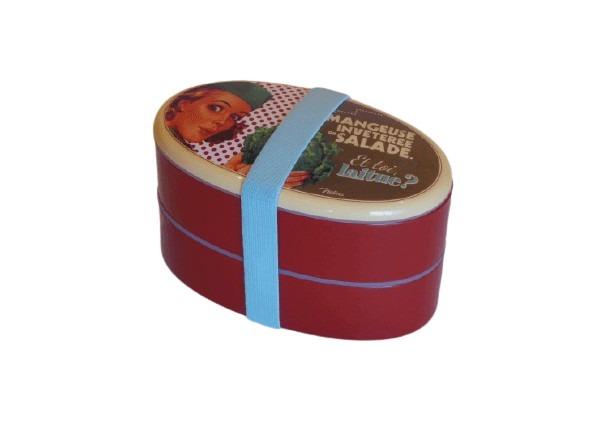 Den perfekta matlådan för myset på picknicken för två, plast och röd.