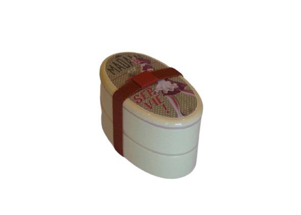 Gul matlåda i plast, perfekt för sallad, retrostil.