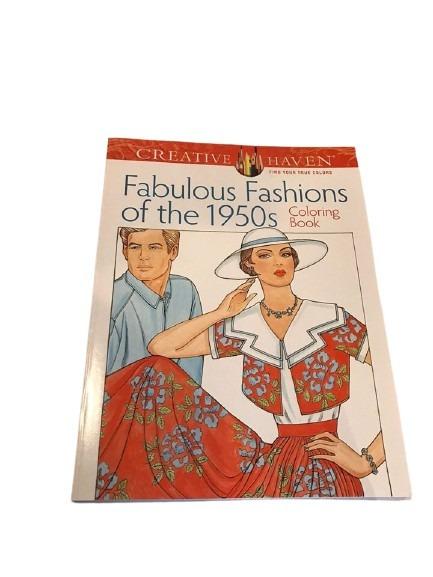 Målarbok med mode från 1950-talet att färglägga.