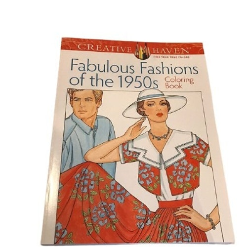 "Målarbok ""Fabulous Fashions Of The 1950s"""