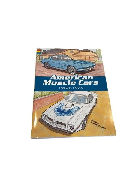 Målarbok med amerikanska bilar från 60 och 70-talet.