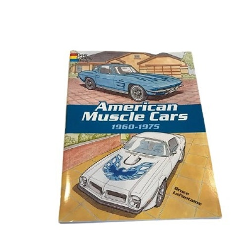 "Målarbok ""American Muscle Cars"""