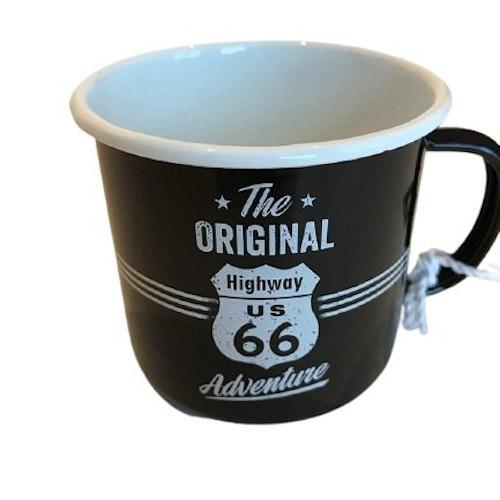 "Kaffemugg i plåt ""Highway 66"""