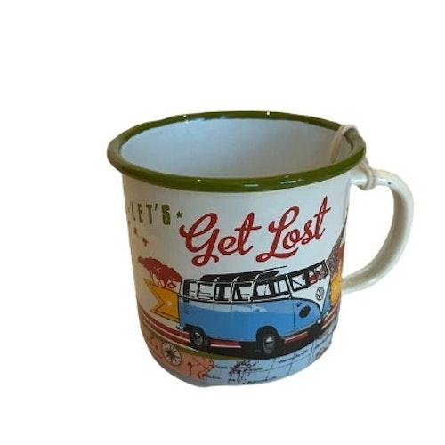 """Kaffemugg i plåt """"Get Lost"""""""