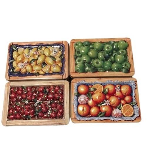 Fruktlådor i plåt 4-pack