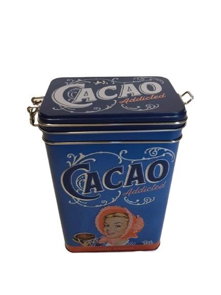 Kakaoburk i plåt med olika nyanser av blått.