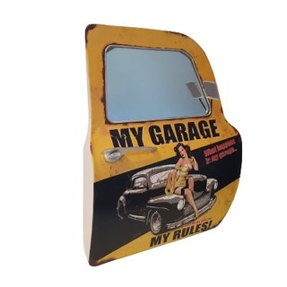 """Bildörr med spegel liten """"My Garage"""""""