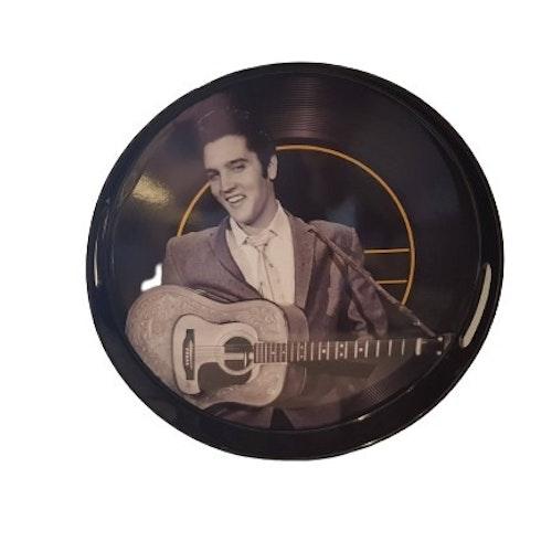"""Bricka Rund med handtag """"Elvis med gitarr"""""""