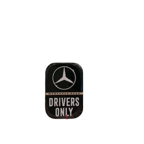 """Mintpastiller """"Mercedes-Benz Drivers Only"""""""