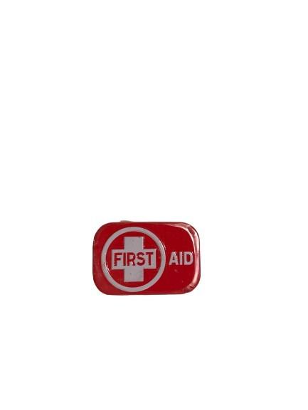 First Aid för din andedräkt, minttabletter i en röd liten plåtask.