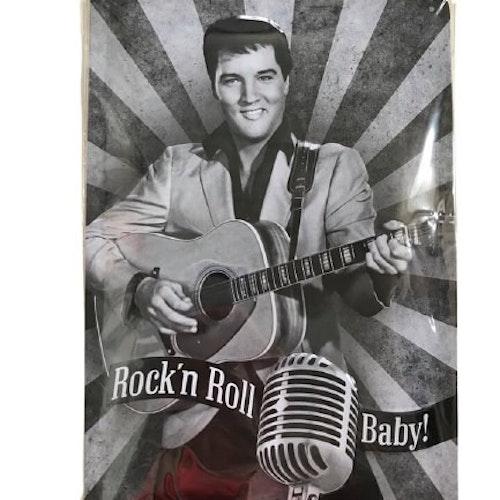 "Plåtskylt 20x30 ""Elvis Rock"""