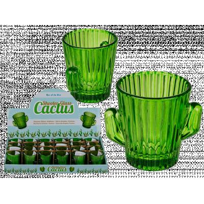 Shotglas, kaktus, gröna.