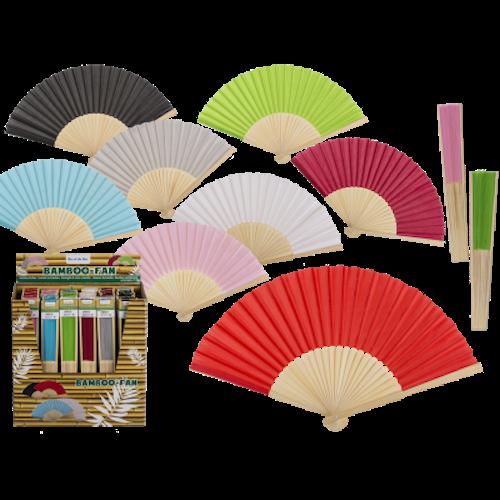 Solfjäder i bambu, 8 olika färger