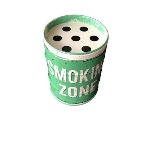 "Askkopp oljefat ""Smoking Zone, Grön"""