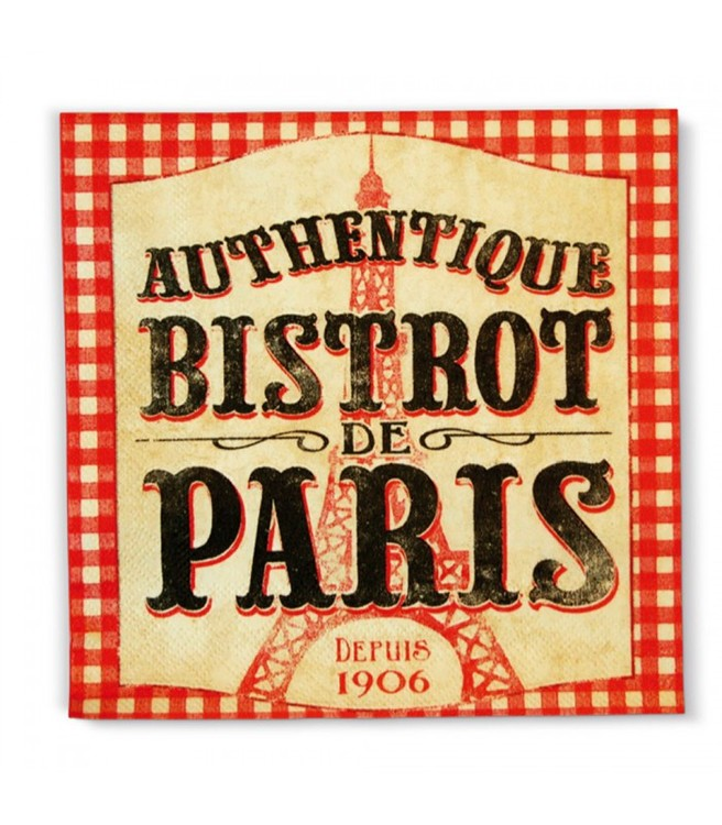Rödrutiga servetter, Paris, 20st i ett paket.