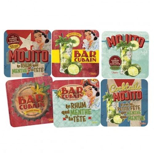 """Glasunderlägg 6-pack """"Mojito"""""""