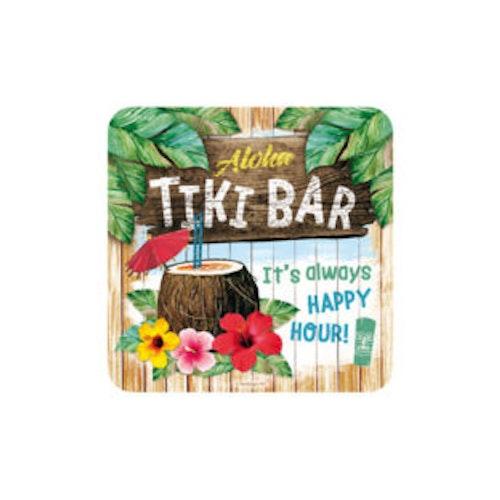 """Glasunderlägg 2-pack """"Tiki Bar"""""""