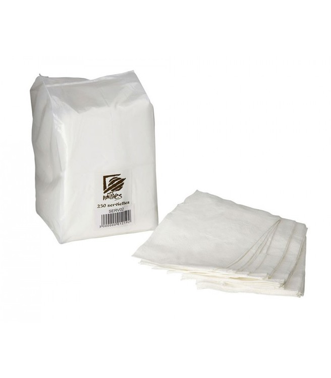 Vita servetter till stående servettställ, ca 12x8,5cm.