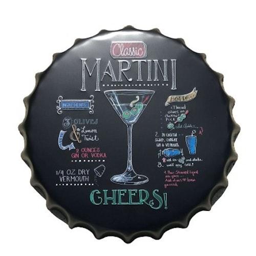 """Plåtskylt Kapsyl """"Martini"""""""