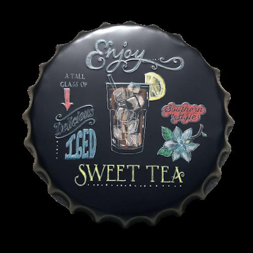 """Plåtskylt Kapsyl """"Sweet Tea"""""""