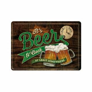 """Plåtskylt Vykort 10x14cm """"Beer"""""""