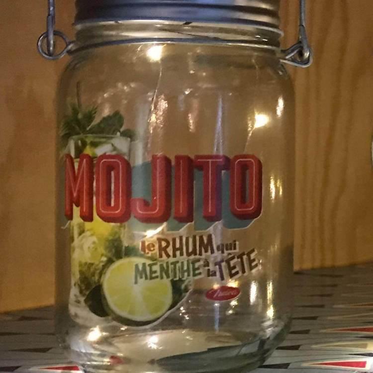 Glaslykta med ledljus, Mojito.