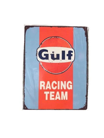 Plåtskylt gulf racing team.