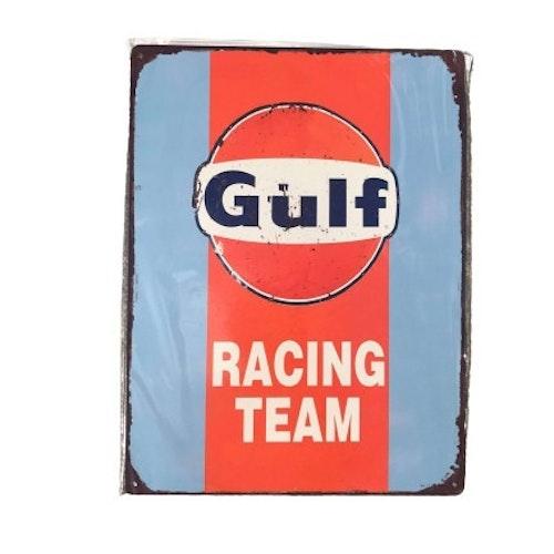 "Plåtskylt 40x30cm ""Gulf Racing Team"""