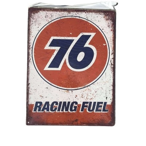 """Plåtskylt 40x30cm """"76 Racing Fuel"""""""