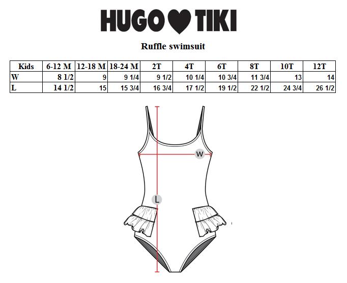 Hugo Loves Tiki - Swimsuit Red Raspberries