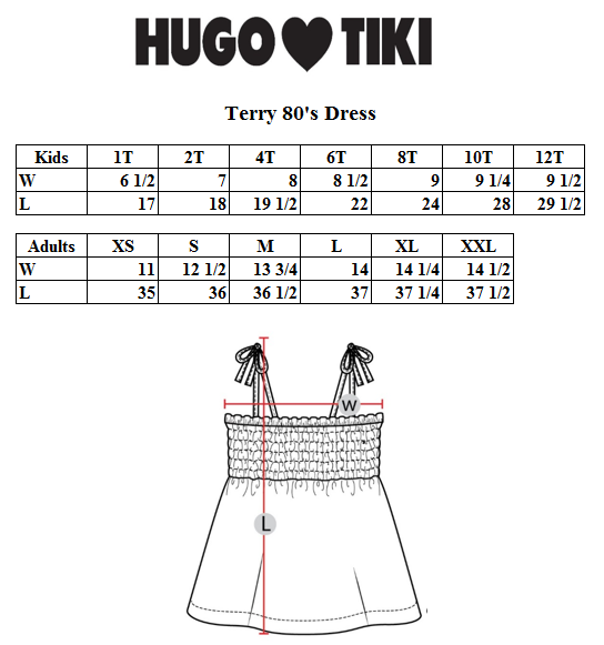 Hugo Loves Tiki - Terry 80's Dress Pink Ladybug