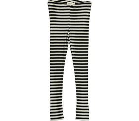 MarMar Copenhagen - Plain Leggings Black/Off-White
