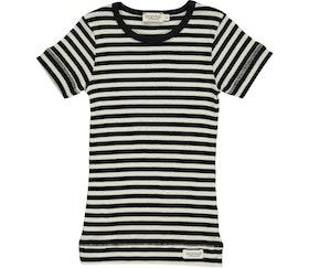 MarMar Copenhagen - Plain Tee SS  Black/Off White
